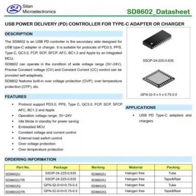 Silan士兰微SD8602通过协会USB PD3.0认证